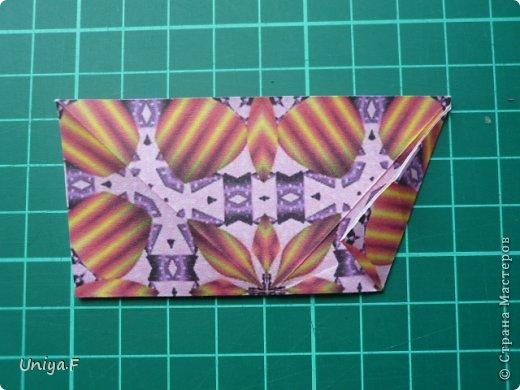 Это второй член королевской четы. Фараон (ну кому ж еще быть?)   Name: Pharaoh Designer: Maria Sinayskaya                 Diadem kusudama https://www.flickr.com/photos/51642560@N02/5096622060/in/set-72157624275437833/ Variation: Uniya Filonova Parts: 30 + 60 Paper: 7,5 x 7,5 + 5 x 5 Final height: ~ 12 cm Joint: no glue фото 5