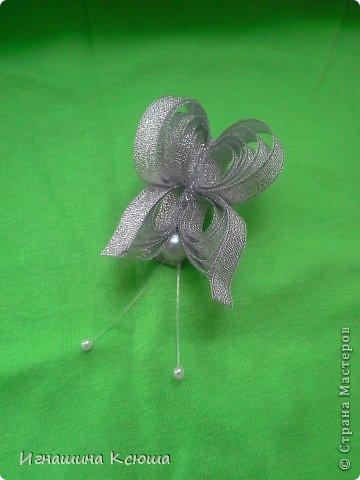 резиночки d-4-5 см на маленькие хвостики, наделала тычинок- теперь и в маленькие цветочки их креплю фото 15