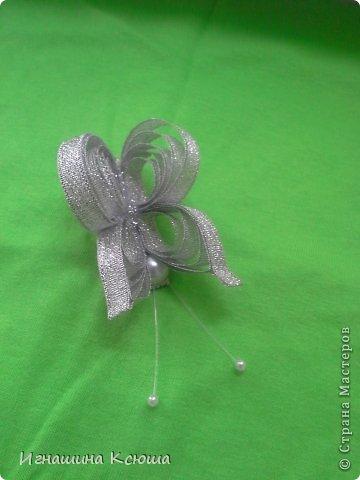резиночки d-4-5 см на маленькие хвостики, наделала тычинок- теперь и в маленькие цветочки их креплю фото 17