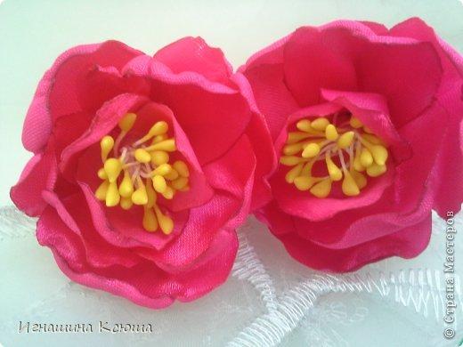резиночки d-4-5 см на маленькие хвостики, наделала тычинок- теперь и в маленькие цветочки их креплю фото 2