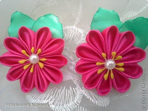 резиночки d-4-5 см на маленькие хвостики, наделала тычинок- теперь и в маленькие цветочки их креплю фото 3