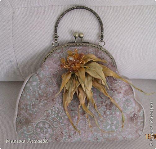 Моя первая сумочка из кожи с фермуаром фото 1