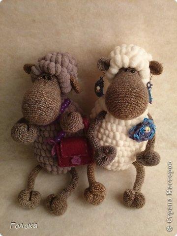 Вязанные овечки схема