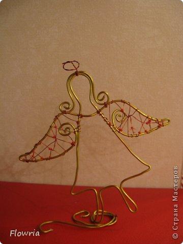 Приветствую всех! Давненько не выкладывала я свои работы (а накопилось их очень много). Вот, потихоньку начну это делать))) Сегодня я к Вам вот с таким Ангелочком. Делала в подарок родственникам на Рождество(5 штучек) фото 1