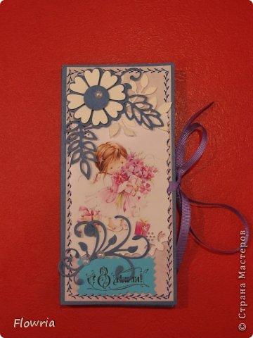 В этом году был у меня заказ от школьников))) Подарочки для девочек - шоколадка в упаковке. фото 2