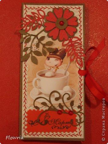В этом году был у меня заказ от школьников))) Подарочки для девочек - шоколадка в упаковке. фото 7