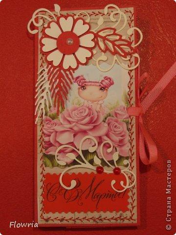 В этом году был у меня заказ от школьников))) Подарочки для девочек - шоколадка в упаковке. фото 8
