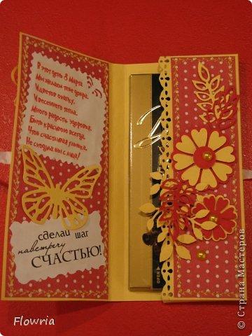 В этом году был у меня заказ от школьников))) Подарочки для девочек - шоколадка в упаковке. фото 11