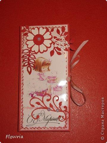 В этом году был у меня заказ от школьников))) Подарочки для девочек - шоколадка в упаковке. фото 13