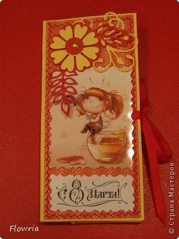 В этом году был у меня заказ от школьников))) Подарочки для девочек - шоколадка в упаковке. фото 14