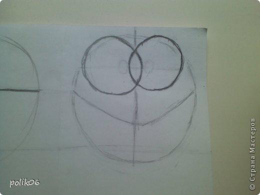 Сегодня я покажу, как я рисую этого прелестного зверька. Для тех, кто не знает – это герой популярной компьютерной игры Cut the Rope – Ам Ням (Om Nom). Он о-о-о-очень любит конфеты. фото 7