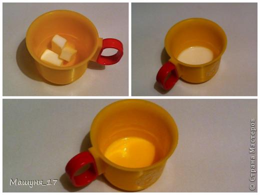 Что-то мне захотелось сделать ещё один мастер-класс)) Ромашка - мыло очень простенькое, МК для начинающих :) фото 3