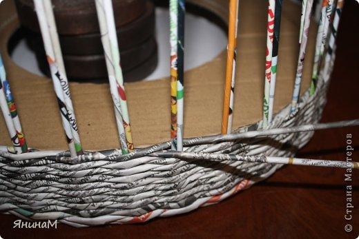 Мастер-класс Поделка изделие Плетение Малюсенький МК Бумага газетная Трубочки бумажные фото 3