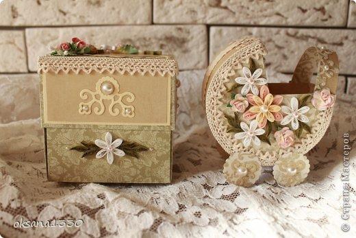 Поделка изделие День рождения Квиллинг Комплект в подарок Бумага