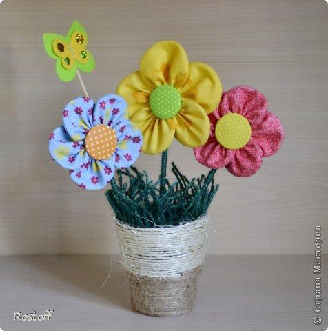 Мастер-класс Поделка изделие День защиты детей Шитьё Цветы из ткани  мастер-класс Пластилин Ткань Шпагат фото 1
