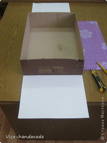 """Всем привет!!! Как я и обещала, выкладываю МК как я делаю свои """"домики"""" для альбомов. Альбом для этого комплекта можно посмотреть здесь http://stranamasterov.ru/node/796886 Как я сделала альбом, то есть МК здесь http://stranamasterov.ru/node/797400 На примере этого набора, я покажу как обтянуть тканью коробки двух видов: со снимающейся крышкой и с откидной крышкой. Т.е МК разделим на 2 варианта... Итак начнем... фото 8"""