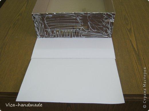 """Всем привет!!! Как я и обещала, выкладываю МК как я делаю свои """"домики"""" для альбомов. Альбом для этого комплекта можно посмотреть здесь http://stranamasterov.ru/node/796886 Как я сделала альбом, то есть МК здесь http://stranamasterov.ru/node/797400 На примере этого набора, я покажу как обтянуть тканью коробки двух видов: со снимающейся крышкой и с откидной крышкой. Т.е МК разделим на 2 варианта... Итак начнем... фото 15"""