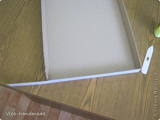 """Всем привет!!! Как я и обещала, выкладываю МК как я делаю свои """"домики"""" для альбомов. Альбом для этого комплекта можно посмотреть здесь http://stranamasterov.ru/node/796886 Как я сделала альбом, то есть МК здесь http://stranamasterov.ru/node/797400 На примере этого набора, я покажу как обтянуть тканью коробки двух видов: со снимающейся крышкой и с откидной крышкой. Т.е МК разделим на 2 варианта... Итак начнем... фото 30"""