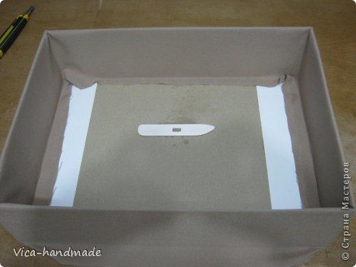 """Всем привет!!! Как я и обещала, выкладываю МК как я делаю свои """"домики"""" для альбомов. Альбом для этого комплекта можно посмотреть здесь http://stranamasterov.ru/node/796886 Как я сделала альбом, то есть МК здесь http://stranamasterov.ru/node/797400 На примере этого набора, я покажу как обтянуть тканью коробки двух видов: со снимающейся крышкой и с откидной крышкой. Т.е МК разделим на 2 варианта... Итак начнем... фото 44"""