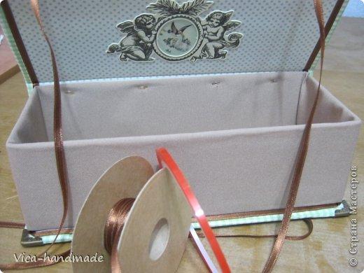 """Всем привет!!! Как я и обещала, выкладываю МК как я делаю свои """"домики"""" для альбомов. Альбом для этого комплекта можно посмотреть здесь http://stranamasterov.ru/node/796886 Как я сделала альбом, то есть МК здесь http://stranamasterov.ru/node/797400 На примере этого набора, я покажу как обтянуть тканью коробки двух видов: со снимающейся крышкой и с откидной крышкой. Т.е МК разделим на 2 варианта... Итак начнем... фото 129"""