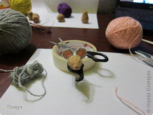 Мастер-класс Поделка изделие Моделирование конструирование Плетение МК Магнит Мышки-воришки  Материал природный Проволока Пряжа фото 16