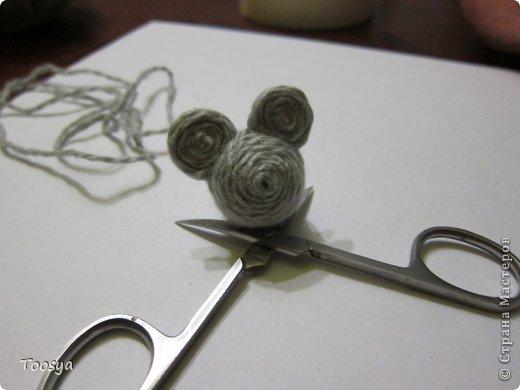 Мастер-класс Поделка изделие Моделирование конструирование Плетение МК Магнит Мышки-воришки  Материал природный Проволока Пряжа фото 18