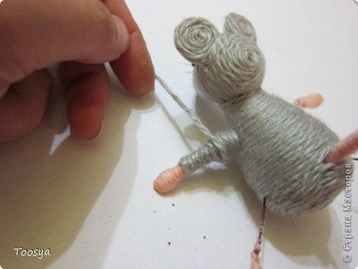 Мастер-класс Поделка изделие Моделирование конструирование Плетение МК Магнит Мышки-воришки  Материал природный Проволока Пряжа фото 32