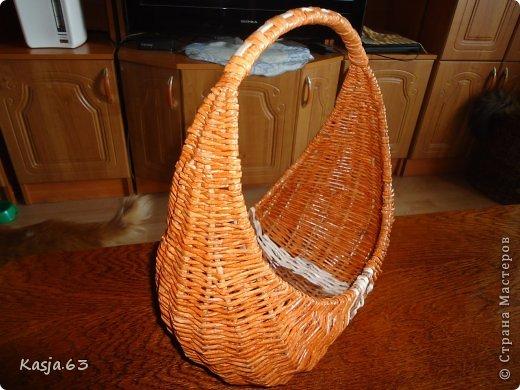 Трёхлучковая корзинка(дамская сумочка) фото 3
