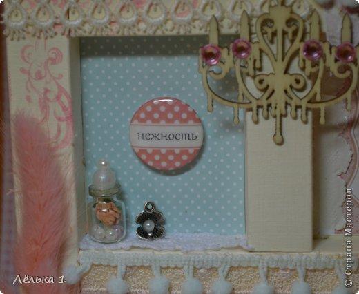 Мастер-класс Поделка изделие Скрапбукинг Ассамбляж Shadow box Нежность + мини МК Бумага Картон фото 2