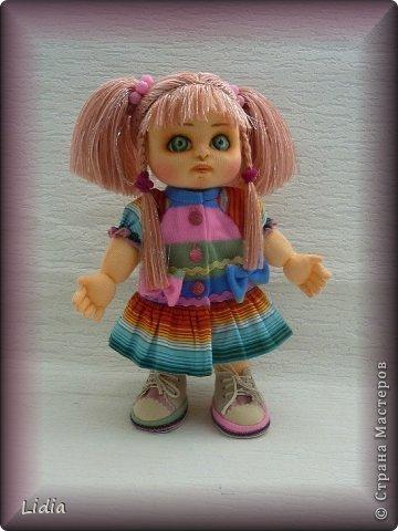 Авторская текстильная кукла Моника. Рост 30 см.  фото 1