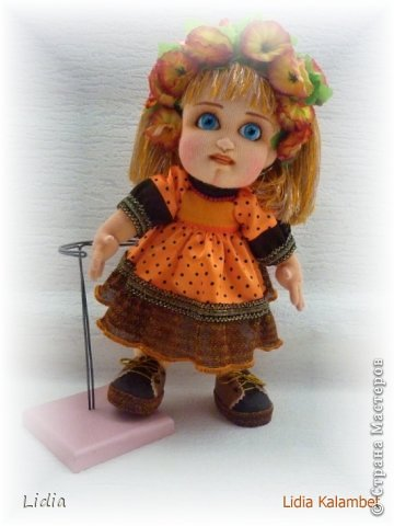Авторская текстильная кукла Моника. Рост 30 см.  фото 4
