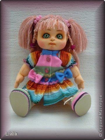Авторская текстильная кукла Моника. Рост 30 см.  фото 2