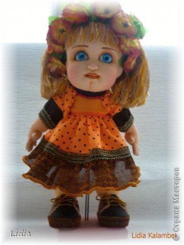 Авторская текстильная кукла Моника. Рост 30 см.  фото 5