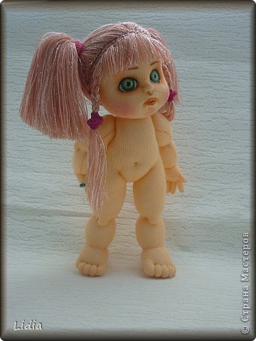 Авторская текстильная кукла Моника. Рост 30 см.  фото 3