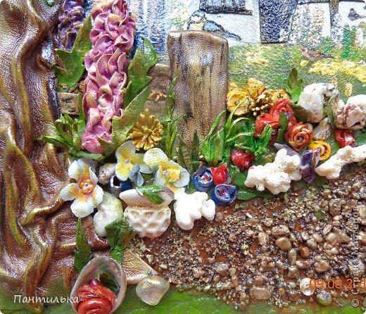 """"""" Домик в деревне""""   Новая работа из натуральной кожи,использовала декупаж,а так же морские камешки,ракушки,кораллы ... фото 4"""