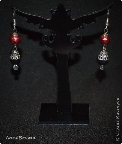 "Набор ""Коралл"" (бусы, браслет, серьги) Бусины коралла,  металлическая фурнитура  фото 4"