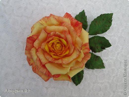 Девочки, на этот раз я с розами, никак не отпускают :-) Вот такая брошь. фото 2