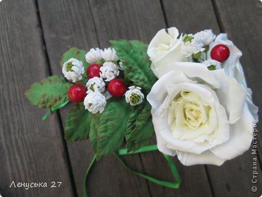 Девочки, на этот раз я с розами, никак не отпускают :-) Вот такая брошь. фото 10