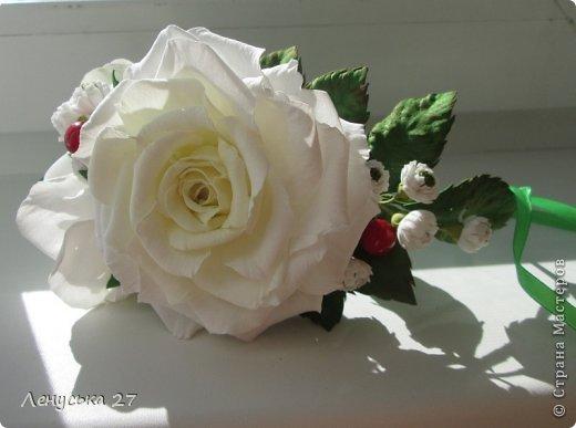 Девочки, на этот раз я с розами, никак не отпускают :-) Вот такая брошь. фото 7