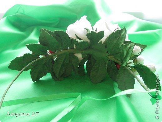 Девочки, на этот раз я с розами, никак не отпускают :-) Вот такая брошь. фото 9