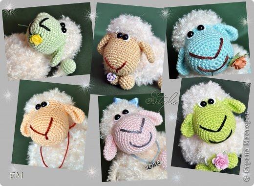 Всем снова здравствуйте! Как говорится готовь сани летом...вот и я всегда вяжу свои символы нового года именно летом. Например на даче) Вот  такая получилась первая партия овечек... фото 1