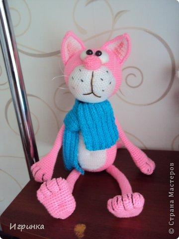 Здравствуйте все жители страны мастеров! Сегодня я со своей давней хотелкой - наконец-то я связала этого очаровательного котенка! фото 4