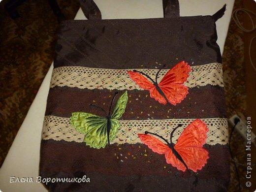 Решила сшить новую сумку с бабочками))) уж очень они мне нравятся))) фото 2