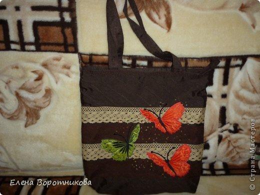 Решила сшить новую сумку с бабочками))) уж очень они мне нравятся))) фото 1