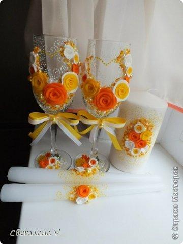 Заказали набор в желто-оранжевом цвете)) Сама люблю такое сочетание, поэтому делался легко))