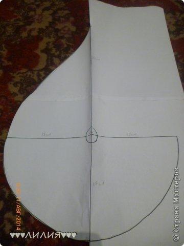 Чтобы пошить вечернее платье со шлейфом нам понадобится-эластичная ткань,ножницы,нитки,иголка,карандаш,линейка,бумага фото 8