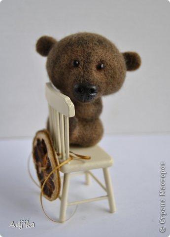 Игрушка Мастер-класс Валяние фильцевание Мини-МК кофейная тонировка валяной объемной игрушки Шерсть фото 1