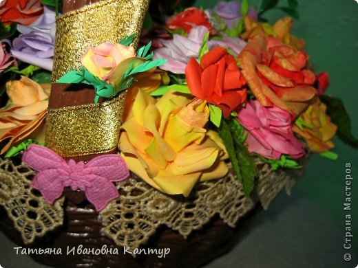 Наплела и накрутила. розы по мк Астории фото 3