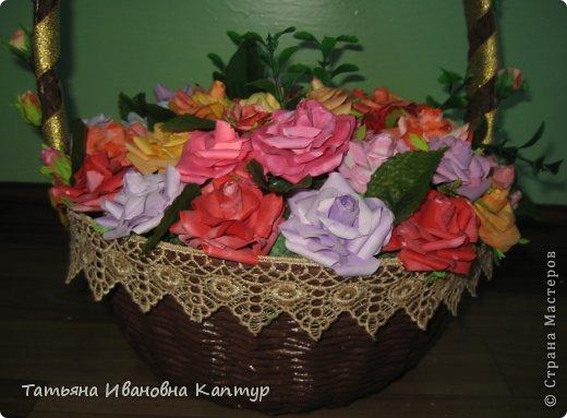 Наплела и накрутила. розы по мк Астории фото 8