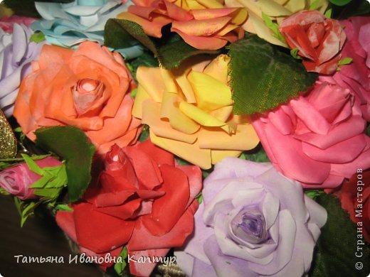 Наплела и накрутила. розы по мк Астории фото 5